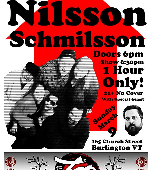 The Arrow Project Pays Tribute to Nilsson Schmilsson! 1 Show Only! Sunday March 9 at Zen Lounge in Burlington!
